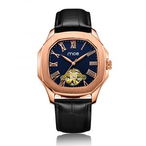 01-0060531-4 CUSTOM ROSE GOLD BLUE DIAL MECHANICAL WATCHES...