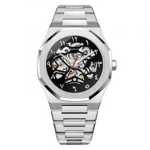 01-0060747-Stainless steel  2020 HOT POPULAR STAINLESS STEEL WATCH FOR MEN CUSTOMER LOGO MECHANICAL WRISTWATCHES