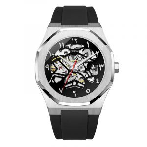 01-0060747-Silicone  2020 HOT SALE LUXURY MENS SKELETON AUTOMATIC MECHANICAL WATCHES