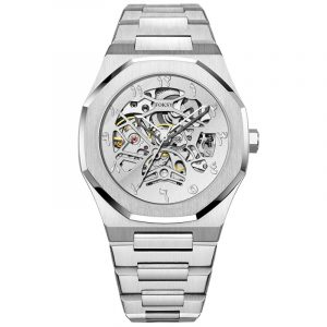 01-0060821  FACTORY STAINLESS STEEL STRAP SKELETON MAN WATCHES