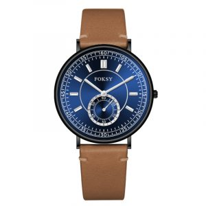 01-0070418 BLUE DIAL GOLD PLATED MESH STEEL BAND...