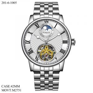 201-6-1005  2020 NEW OEM FACTORY STAINLESS STEEL AUTOMATIC TOURBILON WATCH FOR MEN