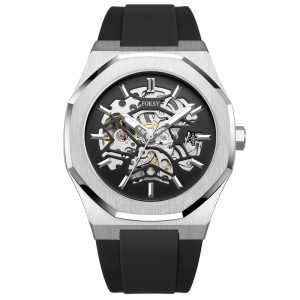 01-0060634 silicone strap  LUXURY AUTOMATIC MOVEMENT MECHANICAL MODERN WATCH FOR MEN BRAND FROM CHINA
