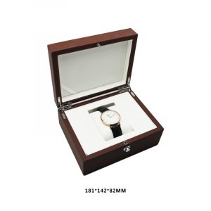 QS-JS014Z DELICATE STYLE BROWN LEATHER WATCHES BOX
