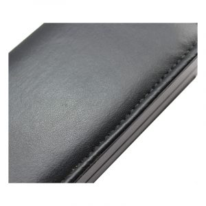 QS-JS049Z RECTANGLE BLACK LEATHER PACKAGE BOX