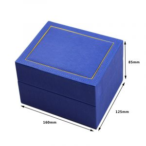 QS-JS089Z  HIGH END STYLE BLUE COLOR LEATHER WATCH BOX