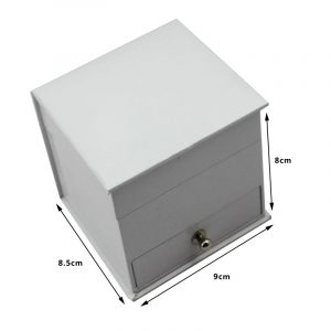 QS-JS114Z  PAPER SKIN WATCH BOX WITH DOUBLE STORAGE PLACE